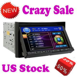 DIN in Dash Car DVD Player 7 Touch Screen Stereo Radio USA Steer