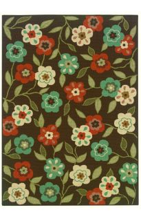 Floral Indoor Outdoor Large New Area Rug Carpet Brown 7 10 x 10 10