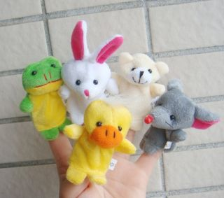 5X Animal Finger Puppet Baby Toys Plush Toys Soft Puppy 232
