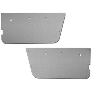 Jeep Interior Door Panels Full Panel Brushed Aluminum