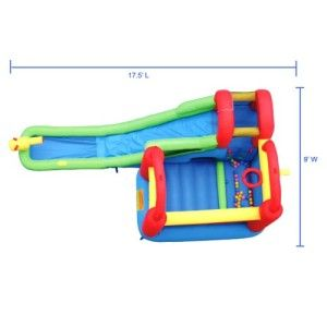 Inflatable Kids Indoor or Outdoor Bounce House with Water Slide