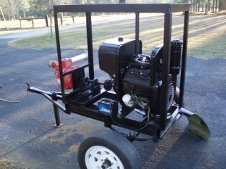 Irrigation Trash 3 Water Pump Wisconsin Motor Driven Trailer Mounted