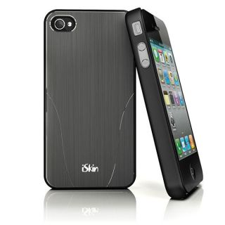 iSkin Aura Brushed Aluminum Case for iPhone 4S 4 Graphite Black ARIPH4