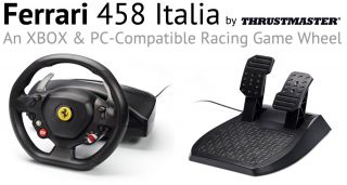 Thrustmaster Ferrari F458 Italia Steering Wheel and Pedals for Xbox