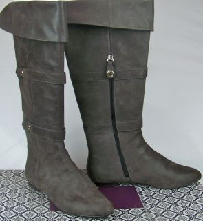 Isola Adora Carbon Brown Tall Boots Shoes Size 7 M VMS1 T416