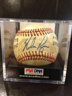 NOLAN RYAN PSA DNA SIGNED 1975 GAME USED AMERICAN LEAGUE MACPHAIL
