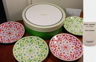 Kate Spade Holly Heights Tidbit Plates 4 New