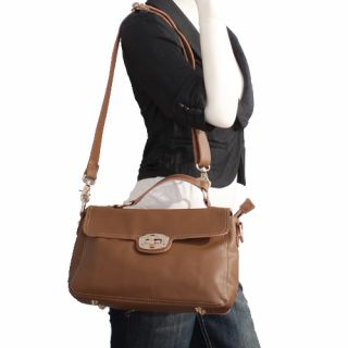 Genuine Italian Leather Browns Handbags Purse Hobo Bag Satchel Tote