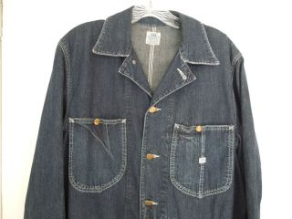 LEE 91 J CHORE BARN JACKET SIZE 38 LONG L BUTTONS SUGAR CANE WORKWEAR