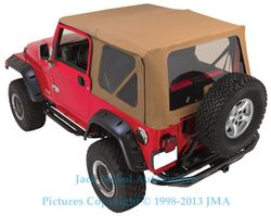 Spice 97 06 Jeep Wrangler Soft Top Tinted Windows