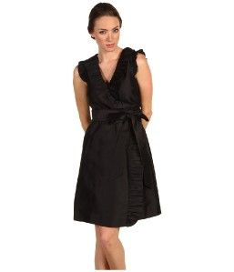 Kate Spade Black Essentials Aubrey Wrap Silk Dress 00