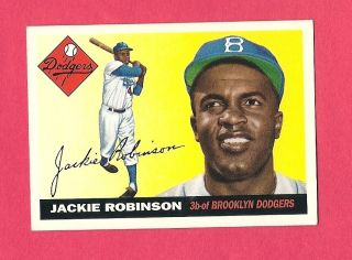 Jackie Robinson 1955 Topps Baseball Reprint Card #50 NR/MT Condition