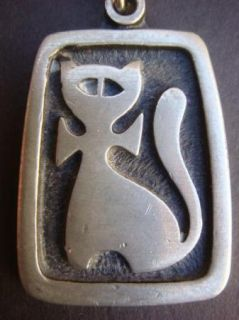 Vintage R Tennesmed Pewter Cat Necklace