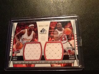 LEBRON JAMES MICHAEL JORDAN SP DUAL JERSEY NUMBERED 6 OF 100 1 1 2004