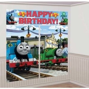 Thomas The Train Scene Setter Birthday Party Wall Decoration Tank