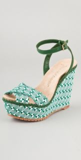 Jean Michel Cazabat Holly Two Tone Wedge Sandals
