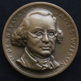 James Wilson Signer of Declaration Series Medallic Art Bronze Medal