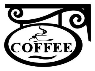 COFFEE SIGN JAVA VINYL DECAL WALL STICKER KITCHEN RESTAURANT CUP