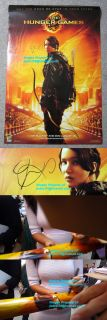 Jennifer Lawrence Signed Hunger Games SDCC Exclusive Poster Exact