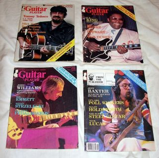 Player magazine 4 issues from 1980 B.B. King, Jeff Baxter, Gary Moore