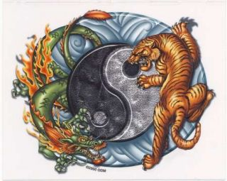 Chinese Dragon Tiger Yin Yang Vinyl Stickers Decals Art by ODM