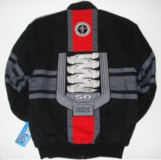 Ford Mustang Racing Engine Cotton Black Jacket XXXL
