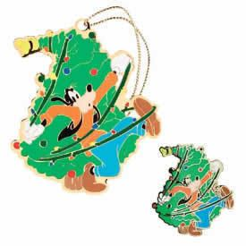 GOOFY PIN XMAS TREE ORNAMENT HOLIDAY GIFT SET LE 1500 JEWELRY BOX NIB
