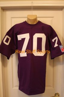 VIKINGS 70 Game Throwback JIM MARSHALL Vintage Jersey NEW Home 1969