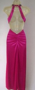 Jodi Kristopher Pink Satin Formal Gown Dress 3 4
