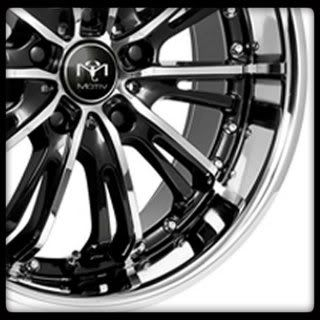 20 X 8.5 CHROME PLATE W/ GLOSS BLACK PAINT MOTIV 402CB WHEELS RIMS
