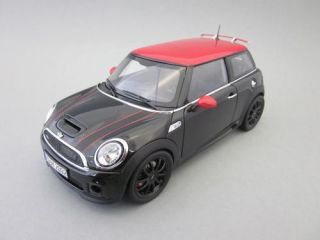 BMW MINI COOPER S JOHN COOPER WORKS TUNING BLACK RED 1 18 KYOSHO