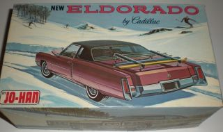 Johan Jo han 72 New Cadillac Eldorado Plastic Model Car Kit Scale 1 25