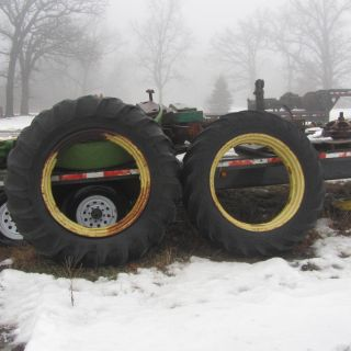JOHN DEERE DROP CENTER REAR RIM RIMS SET FOR STYLED A B G GM TRACTORS
