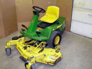John Deere F525 Front Mount Mower w/ 48 Deck ENGINE KNOCKS FOR REPAIR
