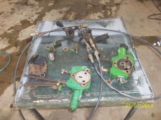 John Deere Tractor Loader Hydraulic Controls Stack on Remotes
