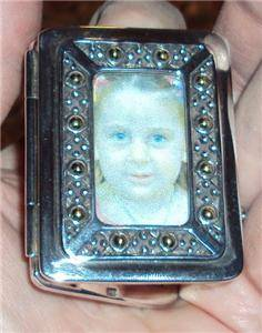 "John Hardy 925 Sterling Silver Double Picture Frame Travel 2 1 4"" Miniature"