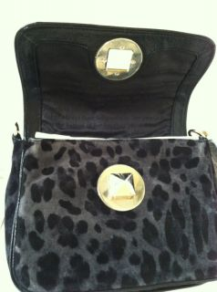 Kate Spade Harlow Algonquin Black Suede Leopard Shoulder Bag MSRP $395 New w Tag