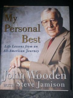 John Wooden Signed Autographed Book My Personal Best UCLA 2