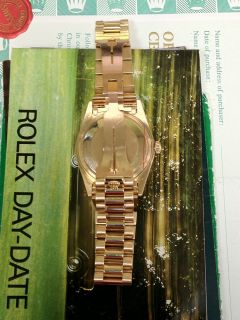Men's Rolex Day Date President 18 Karat Yellow Gold