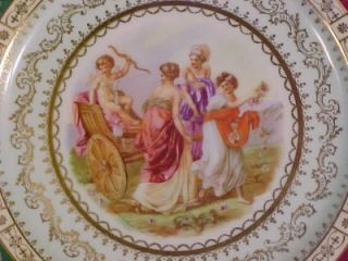 Royal Vienna Style Cabinet Plate Angelica Kauffman