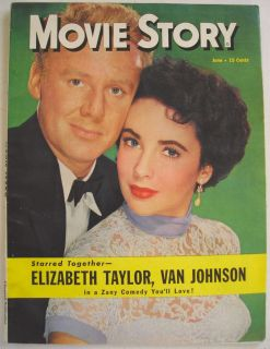 June 1950 Movie Story Magazine Elizabeth Taylor Van Johnson