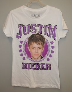 Justin Bieber Girls T Shirt 14 16