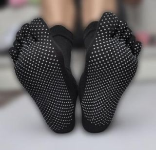 Yoga Sports Karate Non Slip Gym Massage Toe Socks Five Fingers¹ Pure