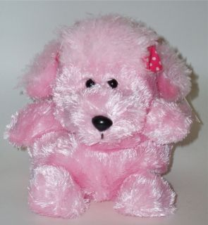 New Russ Pink Poodle Dog Soft Plush Toy Small Katrin