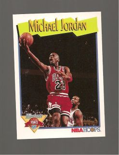 Michael Jordan NBA Hoops 1991 Card 317 Michaels Milestone