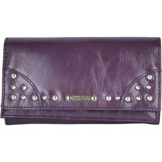 Kenneth Cole Reaction Womens Stud Clutch Wallet Purple