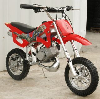 BRAND KIDS 49CC 50CC 2 STROKE GAS MOTOR MINI BIKE DIRT PIT BIKE RED H