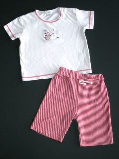 Boutique Kissy Kissy 12 18M Pirate teddy bear tee & red stripe