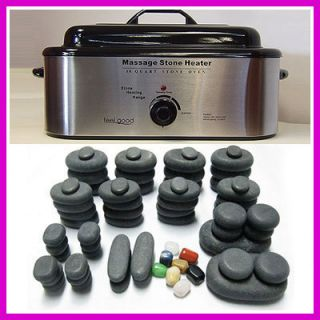 STONE MASSAGE 68 PIECE BASALT STONES SET 18QT HEATER KIT WARMER OVEN