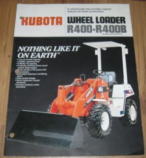 Kubota R400 R400B Wheel Loader Sales Brochure